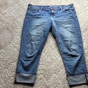 Gap cuffed jeans size 14
